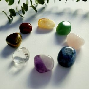 Chakra Balancing Crystals Set of 8 with Pouch